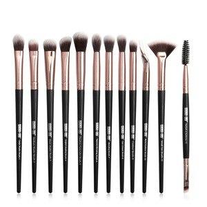 化妝刷套裝專業12件/化妝刷套裝眼影混合眼線筆睫毛刷化妝工具