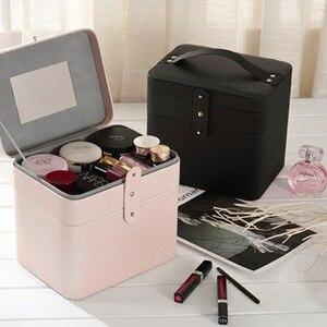 化妝箱便攜式旅行化妝箱女用美容盒,化妝品盒,首飾盒,化妝品收納盒,化妝盒,化妝品
