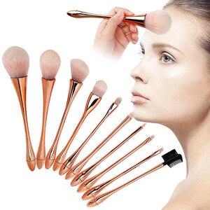 化妝刷10件多功能化妝刷尼龍頭髮臉部眼睛唇部化妝刷化妝品工具化妝刷