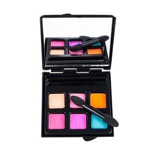化妝眼影調色板化妝刷6色調色板化妝調色板微光色素眼影Maquillage