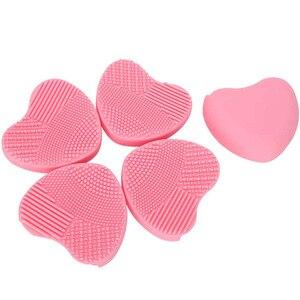 化妝工具套件5件矽膠化妝刷清潔墊化妝品化妝刷清潔劑刷洗滌工具美容化妝品