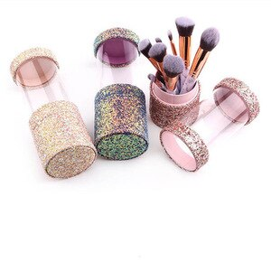 化妝刷架防塵刷化妝架旅行便攜套女士刷子收納盒化妝工具