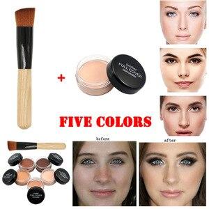 化妝粉底化妝底裸妝液體遮蓋液保濕持久遮瑕+化妝刷化妝品