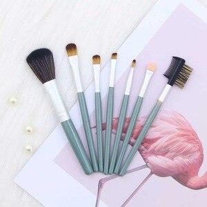 化妝刷套裝專業7件裝化妝刷套裝眼影混合眼線筆睫毛眉筆用於化妝工具-Q