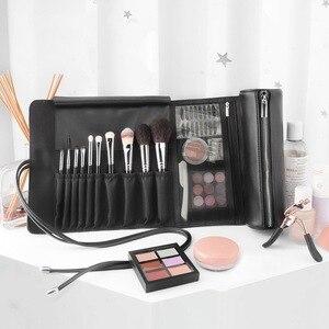 化妝刷收納袋便攜式化妝刷收納袋易拉寶化妝箱可折疊化妝刷拉鍊袋