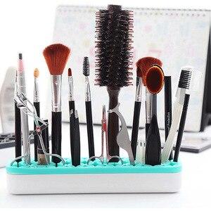 化妝品收納盒組織式化妝盒桌面收納盒化妝刷架矽膠刷架儲物架儲物盒