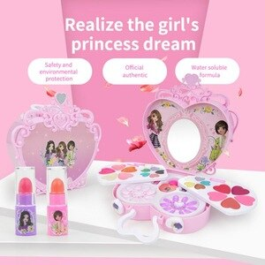 化妝玩具假裝扮演粉紅色化妝女孩美容安全無毒套裝玩具時尚造型師兒童化妝兒童美容玩具