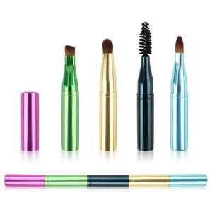 化妝刷4頭化妝刷伸縮式塑料眼影刷化妝品便攜式刷套裝化妝工具新