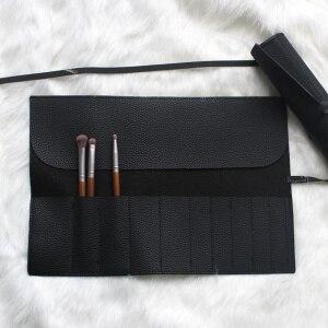 化妝刷黑色收納袋化妝刷袋便攜式化妝刷收納袋化妝工具