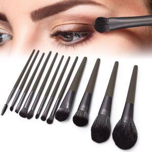 化妝工具包12支化妝刷套裝木柄尼龍毛化妝刷化妝品工具化妝工具包