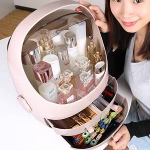 化妝收納盒大容量化妝品收納盒桌面化妝抽屜拋光化妝盒