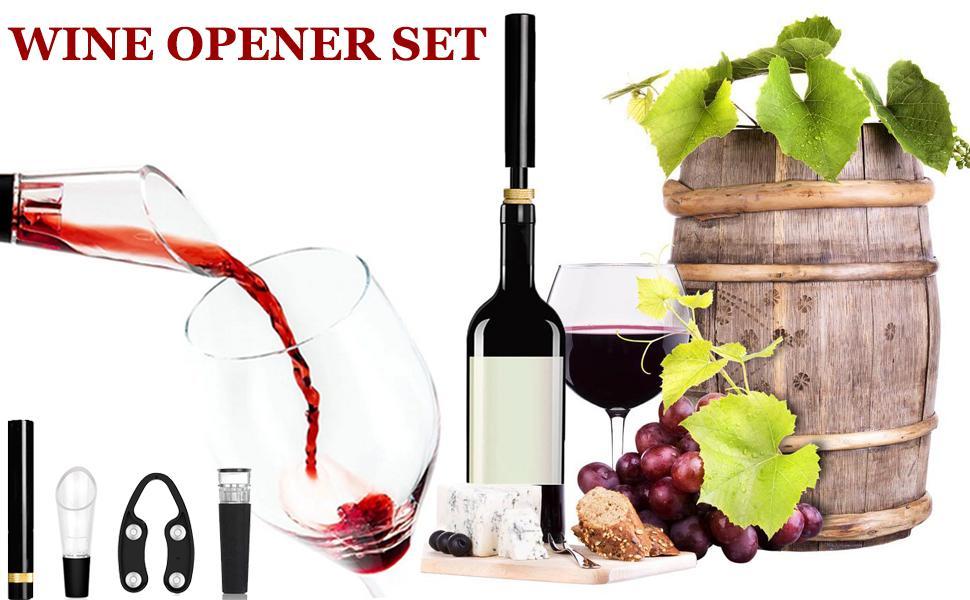 wine opener set air pressure